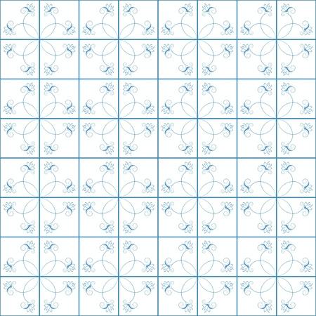 kitchen tile: Seamless  blue and white kitchen tile
