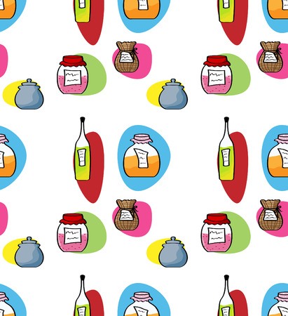 Vector seamless kitchen background Vector