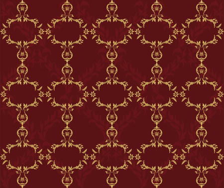 Vector seamless damask background Stock Vector - 8350191
