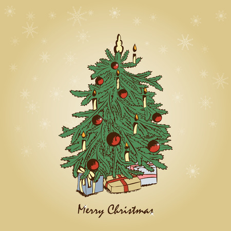 Vector vintage christmas greeting card Stock Vector - 8350203