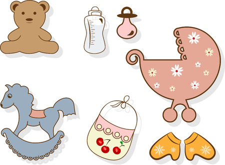 Baby set Stock Vector - 8419729