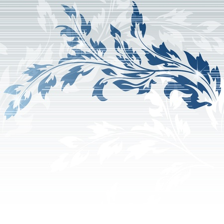 Abstract background with blue branch Stock Vector - 8582594