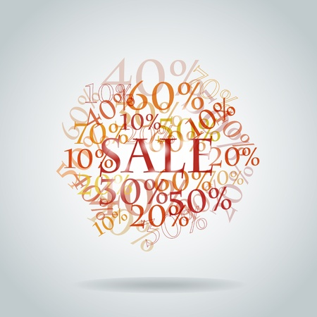 promotional offer:  pattern of discount. Sales. Illustration