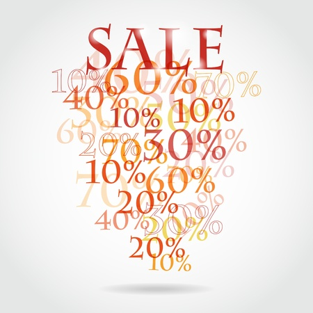 pattern of discount. Sales. Illustration
