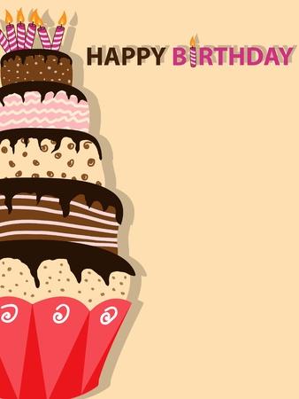 pastel de cumplea�os:   imagen con pastel de cumplea�os