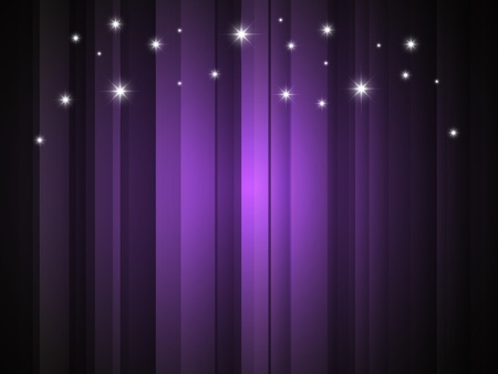 background with purple stripe and stars Stock Vector - 8614640