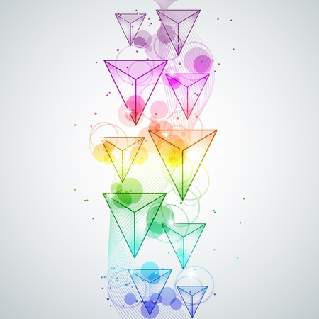 picture with multi colored triangle Vector