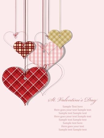 st valentine: Tarjeta de felicitaci�n del vector de San Valent�n