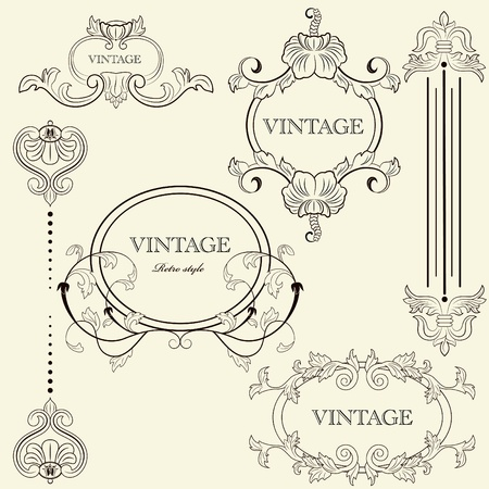 vintage frame set Stock Vector - 8712925