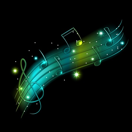 musical shiny background  Vector