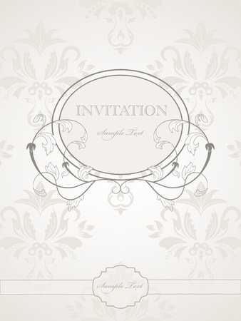 vintage pattern for wedding invitation Stock Vector - 8712920