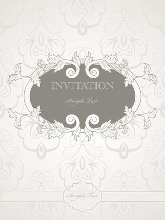 vintage pattern for wedding invitation Vector