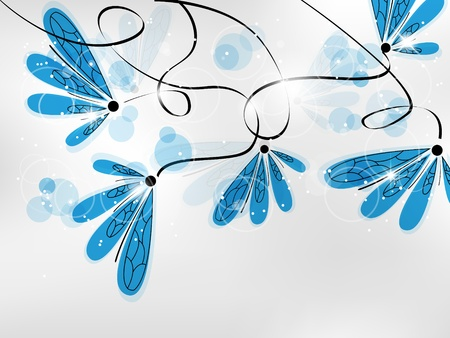 Vector picture with blue flowers and space for your text Stock Vector - 8786411