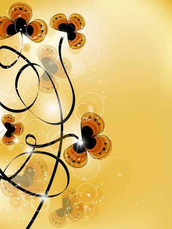 Vector picture with yellow flowers and space for your text