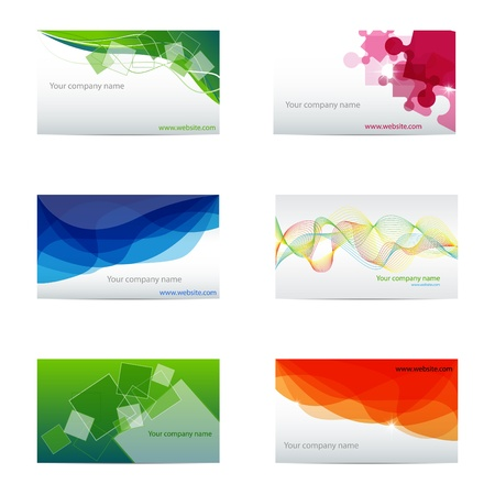 set with different business cards Stock Vector - 8887329