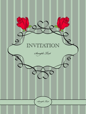 vintage pattern for  invitation Vector