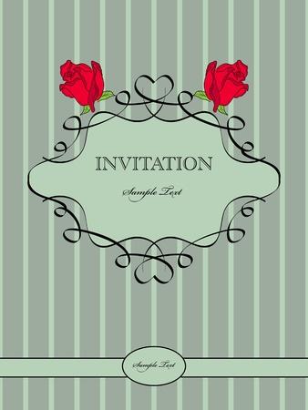 vintage pattern for  invitation Vector