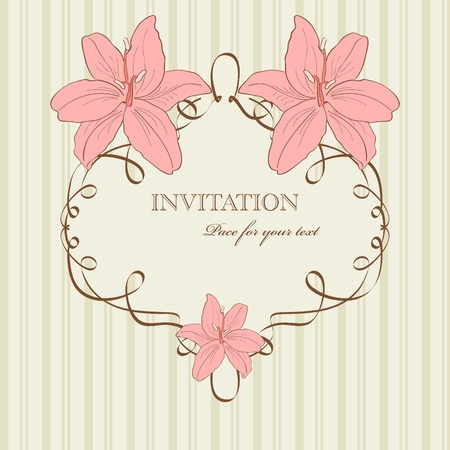 vintage pattern for  invitation Stock Vector - 8887321