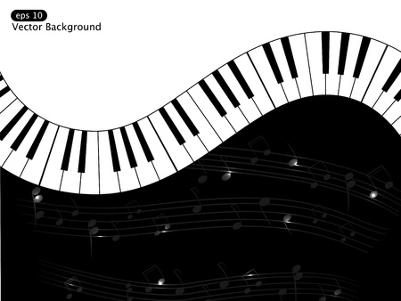 Vector white and black musical background Stock Vector - 8986782