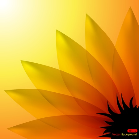 Vector abstract background with sunflower Stock Vector - 8986820