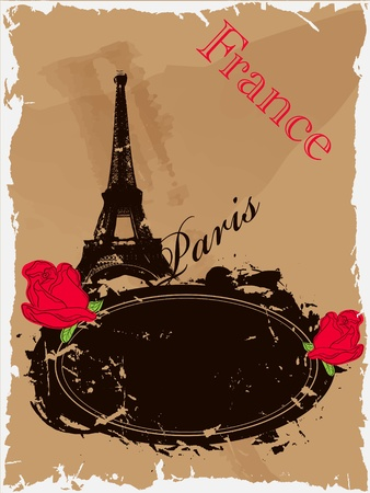 picture with Eiffel tower Stock Vector - 9094493