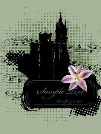 lilia: imagen con la Iglesia y lilia
