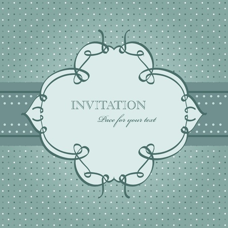 Vector vintage blue greeting card Vector