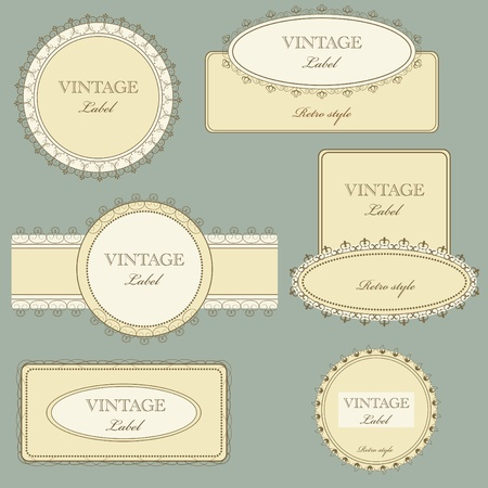 Vector set of vintage framed ornate labels Stock Vector - 9183135