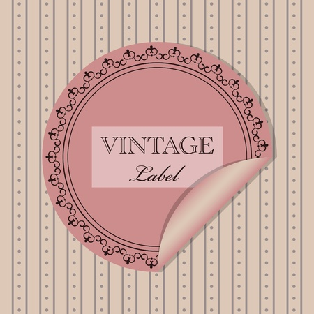 vintage pattern for greeting card or invitation Stock Vector - 9239565