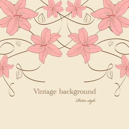 lilia: Im�genes vectoriales con flores de lilia