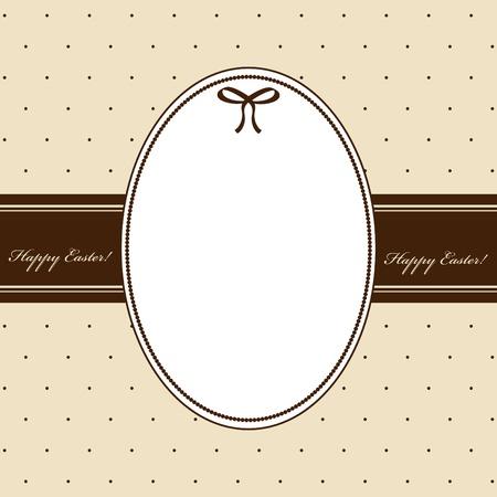 pasqua: Vector elegant greeting card