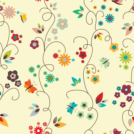 floral seamless pattern Stock Vector - 9348269