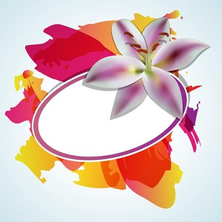 lilia: Fondo abstracto con flor de lilia Vectores