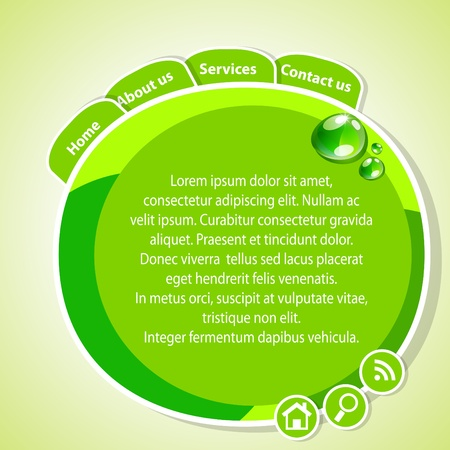 green website template Illustration