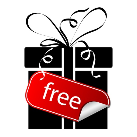 gift box with sticker free Stock Vector - 9578844