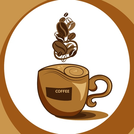 coffee cup and steam Vector