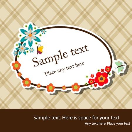 floral elegant frame Stock Vector - 9578990