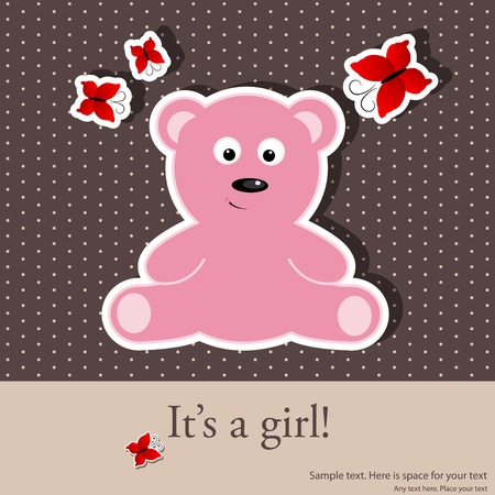 greeting card for baby girl shower Stock Vector - 9578994