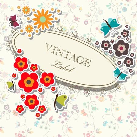 floral elegant frame Stock Vector - 9579010
