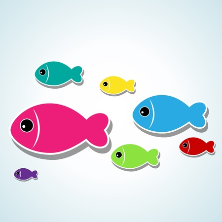 small cute fishes Vector