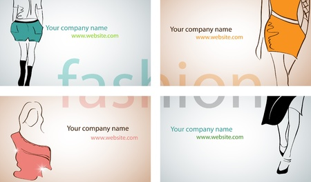 Vector set with different fashion business cards Stock Vector - 9718899