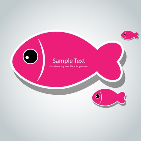 Vector background with small cute fishes Vector
