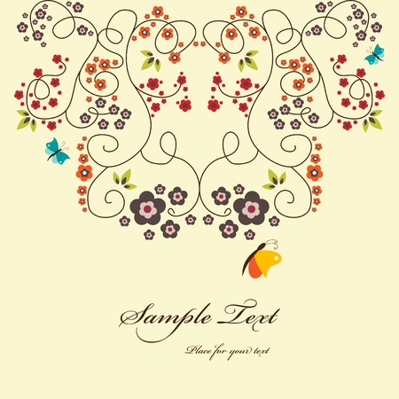 Vector floral greeting card Vector