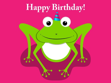 Vector greeting card with frog Vector