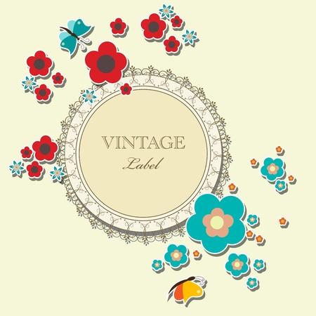 Vector floral elegant frame Vector