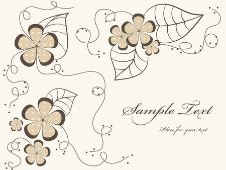 Vector floral background Stock Vector - 9718930
