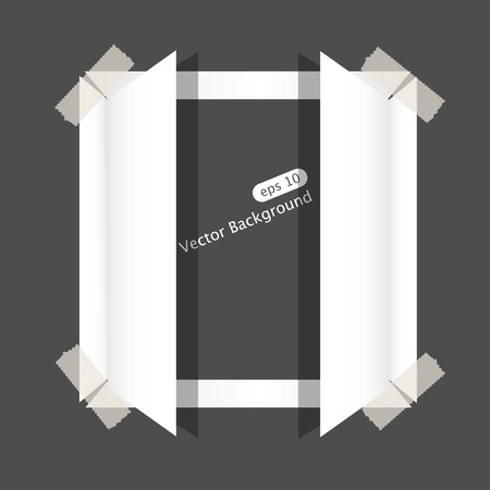 Vector paper window and space for your text Stock Vector - 9718897