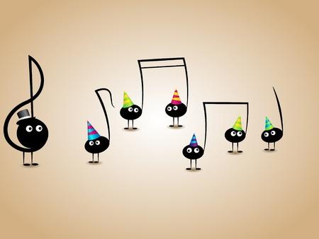 instruments de musique: carte de voeux musical avec des notes dr�les