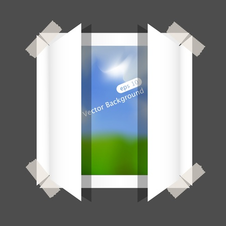 paper window and space for your text Stock Vector - 9879670