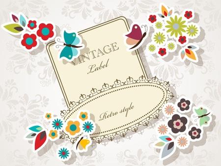 floral elegant frame Vector